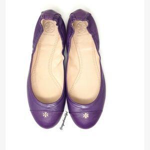 Tory Burch Purple Cap Toe Flats